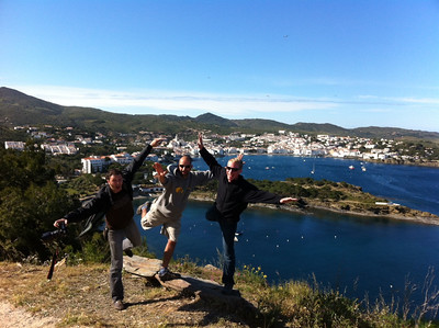 Tour leaders taking a break on a sunny day in Catalonia on our Costa Brava tour